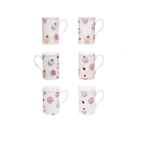 Cupcake Chintz Mugs