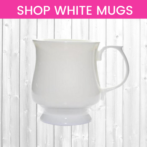 Shop White China Mugs