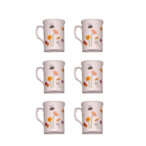 Bone china bees in the meadow mugs