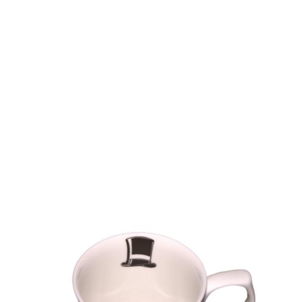 Top hat inside mug